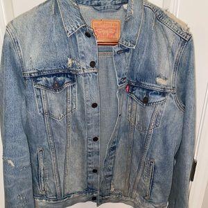 Levi's Men's distressed jean jacket